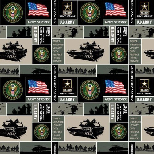 Military Army Fleece Fabric - Sold By the (Military Fleece Fabric)