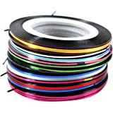 Imported Rolls Striping Tape Line Nail Art Tips Decoration Sticker 30pcs Mixed Colors