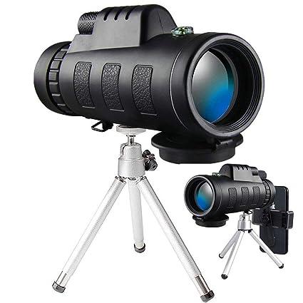 amazon com monocular telescope, 40x60 high powered monocular withmonocular telescope, 40x60 high powered monocular with smartphone adapter \u0026 tripod for bird watching (