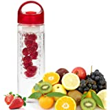 satyam kraft Fruit Infuser Water Bottle pack of 1 Transparent Plastic,Detox Drink Juice Bottle, Fruit Infuser Detox BPA Free Water Bottle, Sport Water Bottle, Juice, Iced Tea, Lemonade & Sparkling Beverages (Random Color) 700 ml
