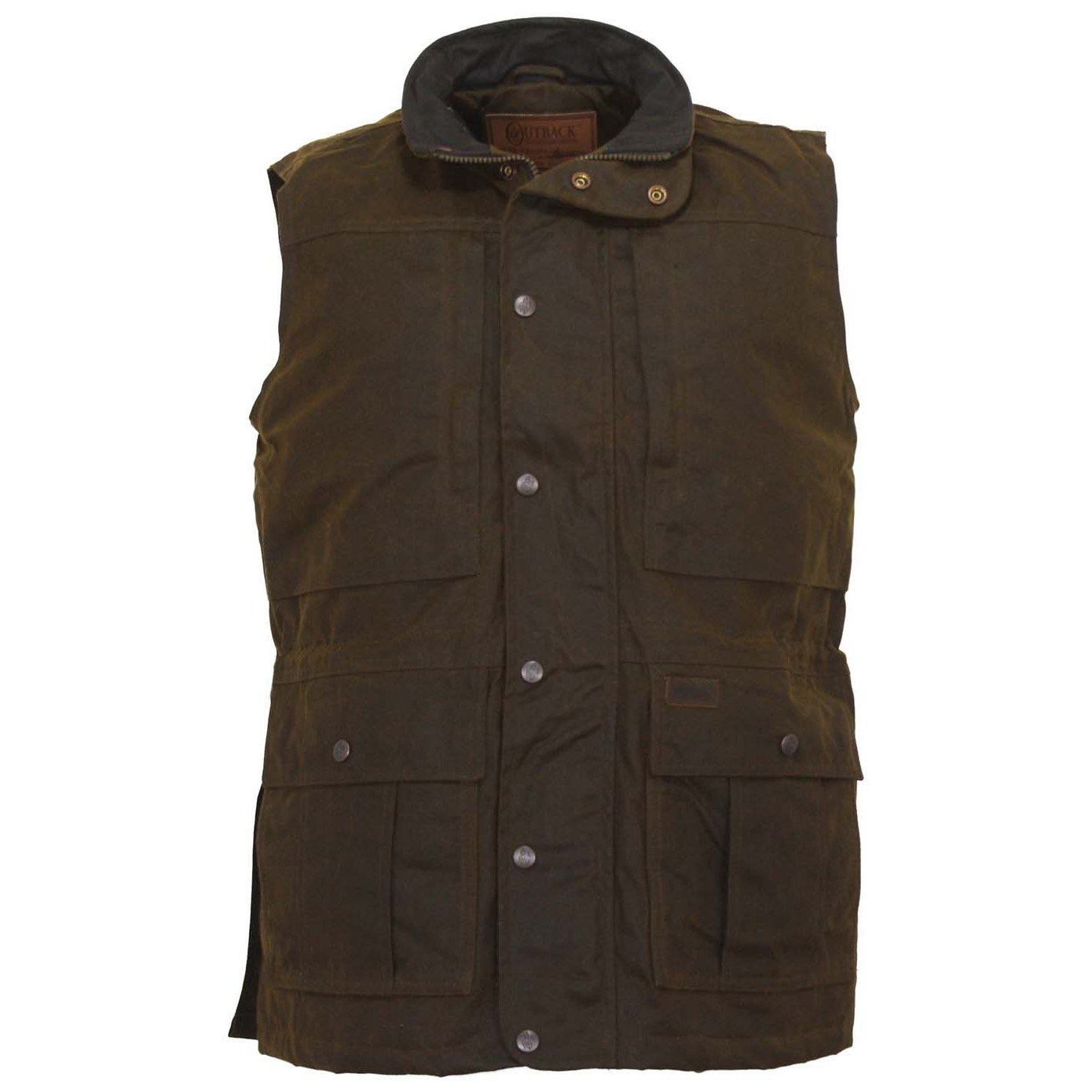 Outback Trading Mens Oilskin Barn Vest S by Outback Trading