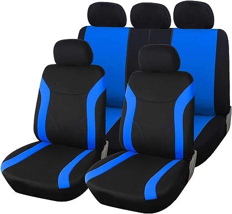 Schwarz Velours Sitzbezüge für NISSAN NOTE Autositzbezug Set