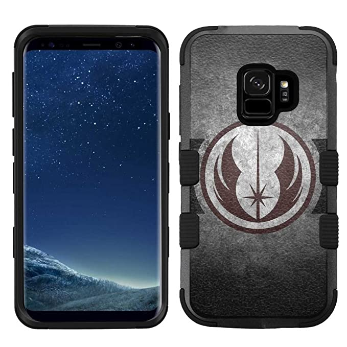 best sneakers bd1b4 60a5f Samsung Galaxy S9 Case, Hard+Rubber Dual Layer Hybrid Heavy-Duty Rugged  Armor Cover Case - Star Wars Jedi #SG