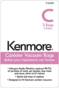 Kenmore 54321 Vacuum Bag, 3-Pack Genuine Original Equipment Manufacturer (OEM) Part