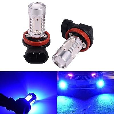 ATMOMO 2 PCS Car H8 H11 33-SMD LED Xenon Head Light Headlight Bulbs Lamp or Daytime Running Lights Lighting DRL 12V 7.5W - Blue: Automotive