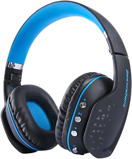 Bluetooth Auricular Gaming Inalámbrico, MindKoo Auriculares Profesional de Diadema Manos Libres Casco de Videojuego Sonido Verdadero Estéreo con LED luz para iOS iPhone x,8/Plus Android,PS4 PC: Amazon.es: Instrumentos musicales