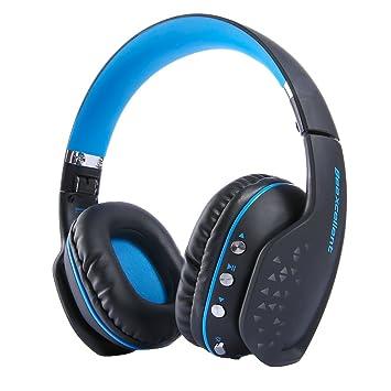 Bluetooth Auricular Gaming Inalámbrico, MindKoo Auriculares Profesional de Diadema Manos Libres Casco de Videojuego Sonido Verdadero Estéreo con LED ...