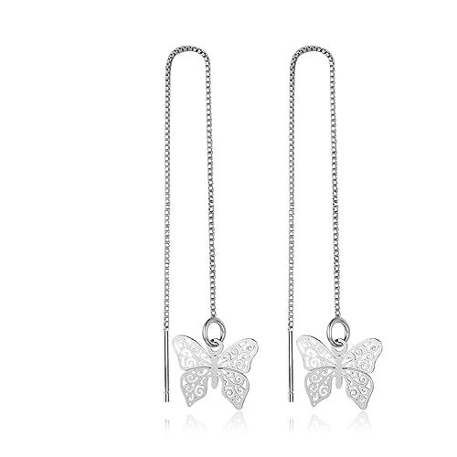 8c41d721d ANAZOZ 925 Sterling Silver Hollow Butterfly Shape Dangle Earrings Silver  Women Ear Studs: ANAZOZ: Amazon.ca: Jewelry
