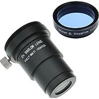 Gosky 3,2cm Lune Filtre et 2x Barlow kit pour télescope oculaires