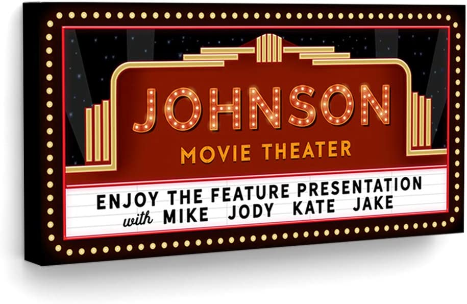 Pretty Perfect Studio Custom Home Theater Sign, Movie Theater Decor, Personalized Movie Theatre Sign, Theater Room Decor, Movie Marquee Sign, Cinema Signs