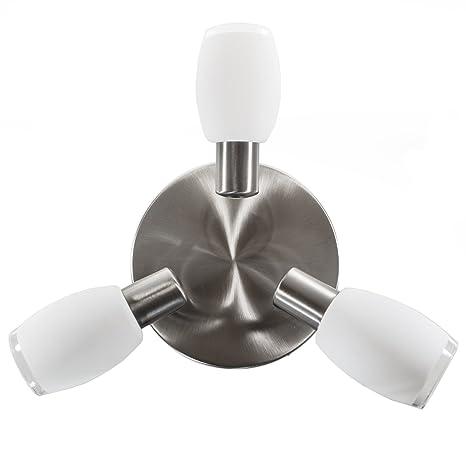 Deckenlampe Lampe Leuchte Wohnzimmer Flur Spot Spotleuchte D2730 Deckenleuchte inkl 2,5 Watt LED Leuchtmittel A++
