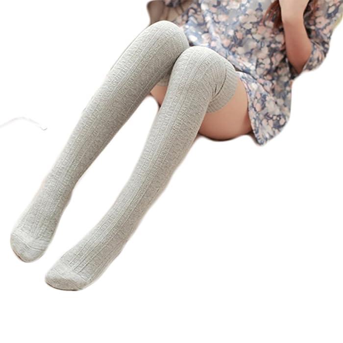 ddbbec940 HITOP Womens Over Knee Leg Warmer Crochet Thigh High Boot Socks ...