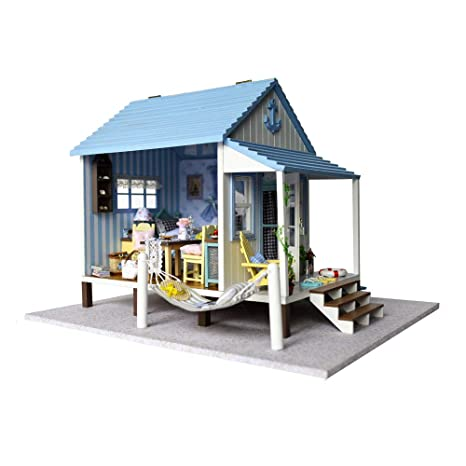 Amazon Com Asidiy Dollhouse Miniature Diy House Kit With Furniture
