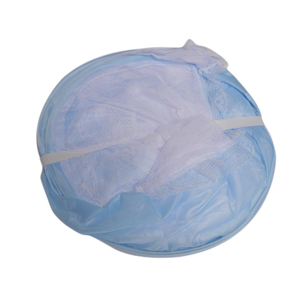 MagiDeal Hochwertiges Polyester Faltbare Baby Kinder Moskitonetz Netz Insektenschutz f/ür 0-2 Jahr Baby Blau