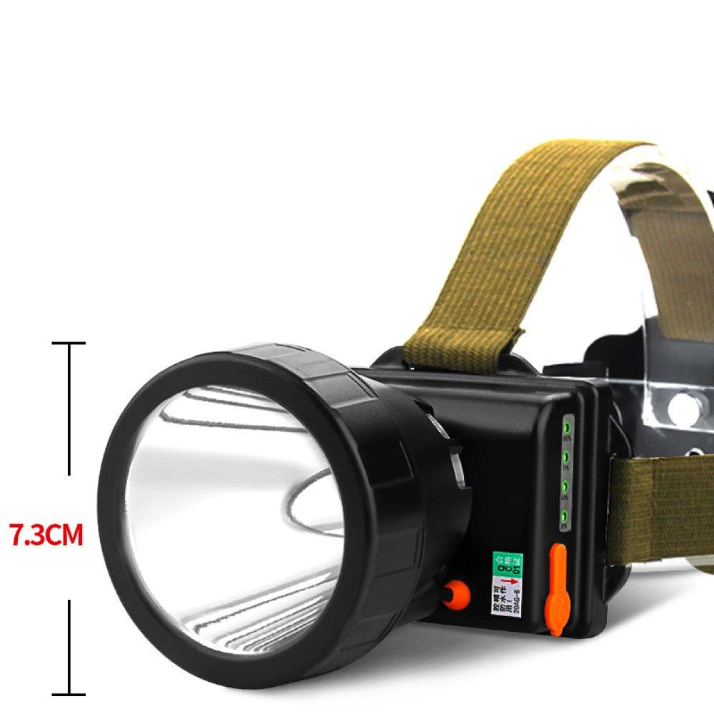 ERHANG Stirnlampen LED Scheinwerfer Radfahren Beweglich Wandern Glare Angreifen Super Helle 3000m Headset Gelbes Licht Outdoor