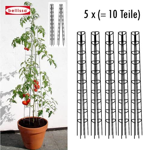 Bellissa 10001 - Guía para tomateras (5 unidades, altura: 120 cm ...