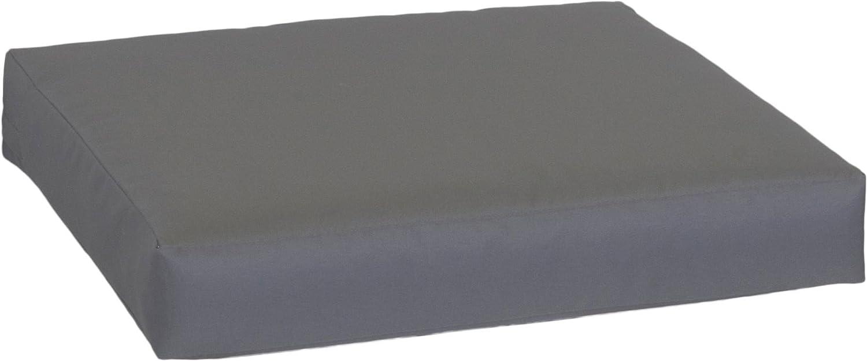 Beo Premium Lounge Sitzkissen Palettenkissen im Farbton Anthrazit ca. 70 x 70 cm ca. 9 cm Dick aus 100% Polyester Wasserabweisend