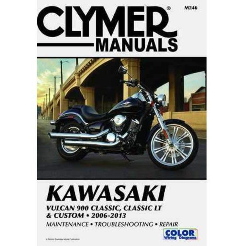 Amazon.com: Clymer Kawasaki Vulcan 900 Classic, Classic LT & Custom  (2006-2013) (53036): Manufacturer: Automotive
