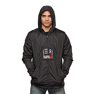 c6adccf56de Amazon.com  ThinkGeek Star Wars Darth Vader Windbreaker Jacket  Clothing