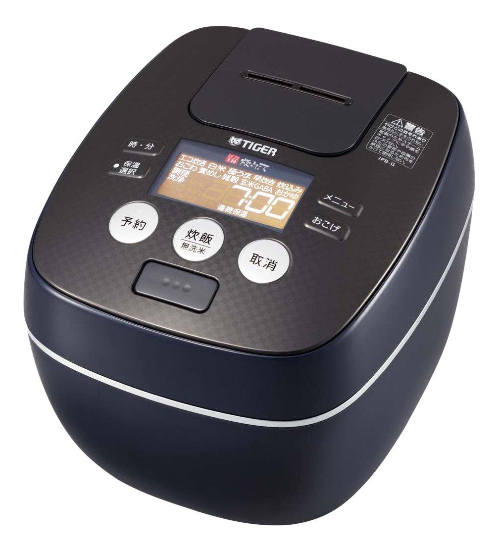 タイガー 炊飯器 5.5合 圧力 IH ブルー ブラック 炊きたて 炊飯 ジャー JPB-G101-KA Tiger   B00ZQSDAUS