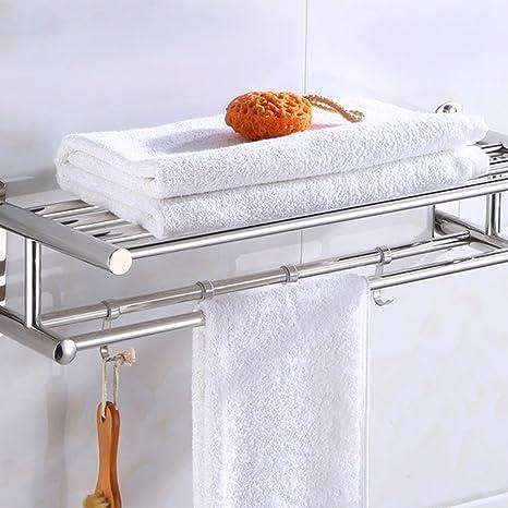 Toallero de baño Toallero de pared de acero inoxidable ...