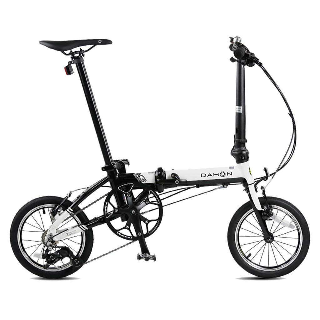 F 1203491cm Folding Bikes Bicycle Folding Bicycle Unisex 14 Inch Small Wheel Bicycle Portable 3 Speed Bicycle (color   G, Size   120  34  91cm)