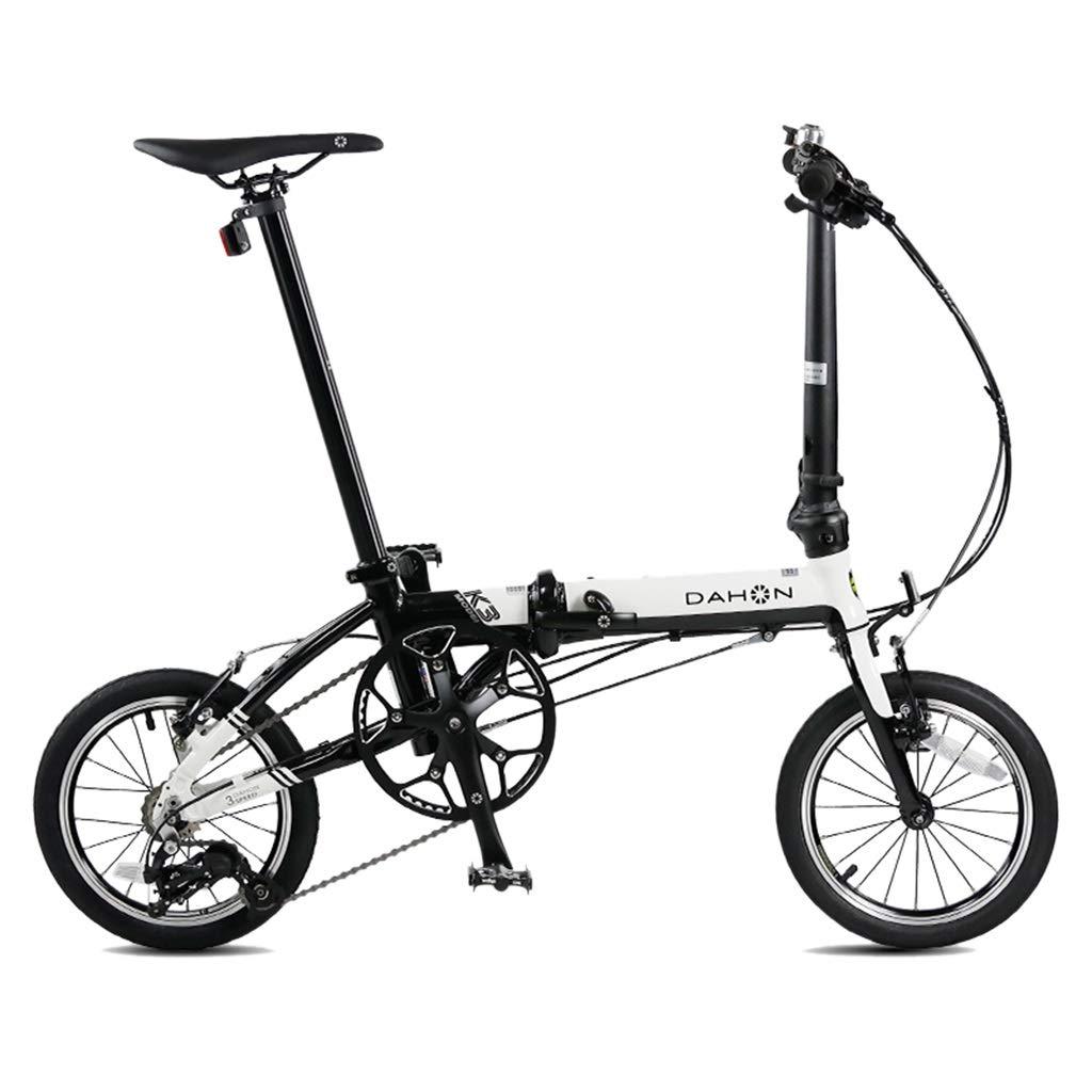 Paseo Bicicleta Plegable Bicicleta Unisex 14 Pulgadas ...