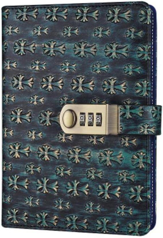 color azul 150x215mm A5/tama/ño agenda de piel sint/ética Vintage cierre libro estilo port/átil libro tama/ño 150/x 215/mm tpn100 5.91x8.46 inch
