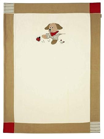 Sterntaler Schmusedecke Kuscheldecke Babydecke aus Microfleece f/ür M/ädchen und Jungen Hanno der Hund