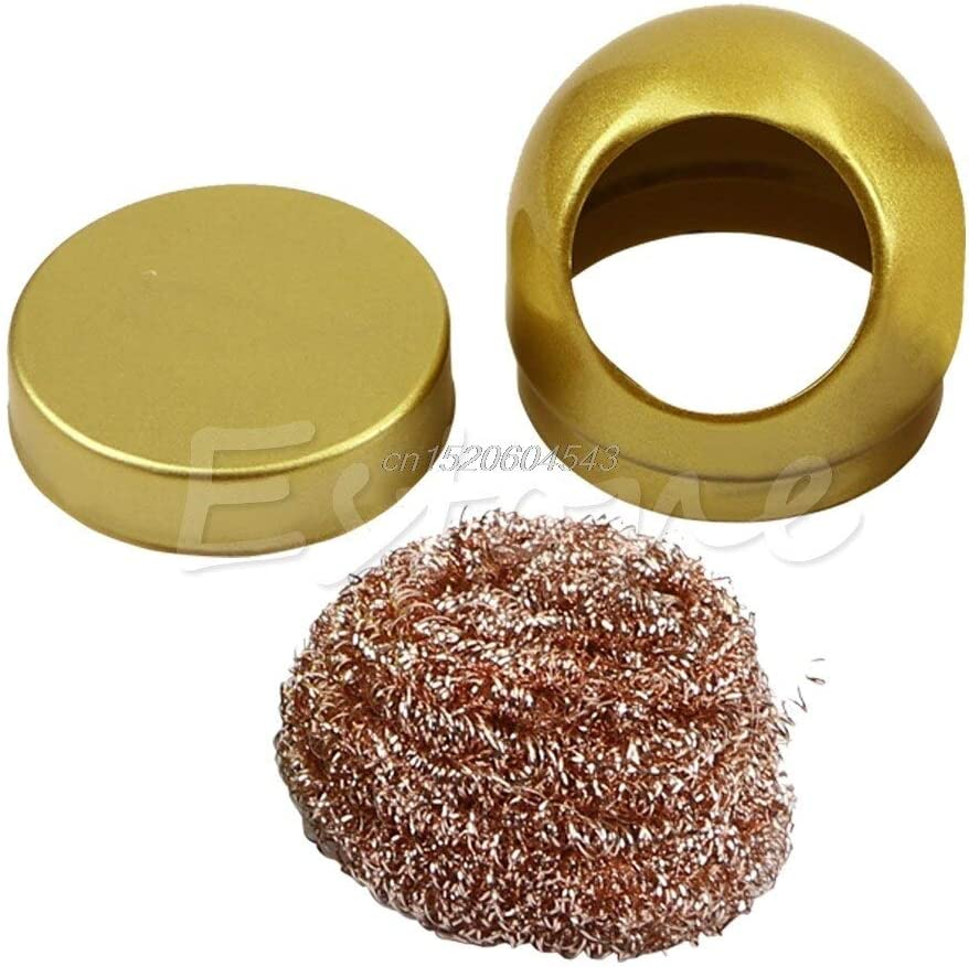 Soldering Soldering Iron Tip Cleaning Wire Nozzle Cleaner Sponge Ball Holder R09