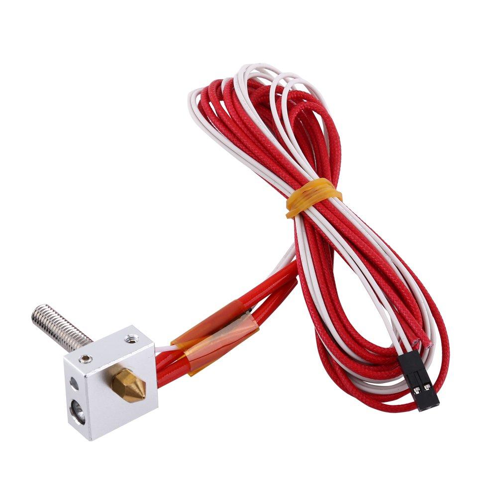 GOTOTOP DIY Extr/émit/é Chaude Kit pour RapRep i3 Anet A6 A3-S 3D Printe 0.4mm Buse Assembl/é Extrudeuse Extr/émit/é Chaude kit