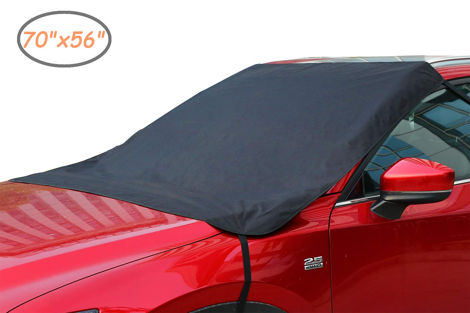 Ohuhu Upgraded Waterproof Outdoor Car Covers, Sedan Auto Vehicle Cover Windproof Dustproof Scratch Resistant Outdoor UV Protection Universal Full Size Car Covers for Sedan L (191''-201'')