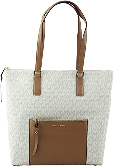 b11a621b15d7 Amazon.com: Michael Kors Ariana Large North South Tote (Vanilla): Shoes