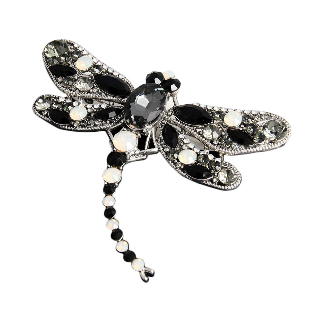 d26f4778425 Amazon.com: Crystal Rhinestone Dragonfly Brooch Pin Jewelry Birthday Gifts  (Black): Jewelry