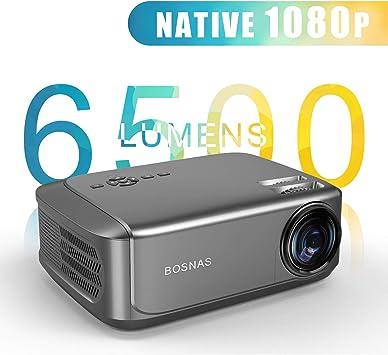 Proyector, BOSNAS 6500 Lúmenes Proyector Full HD 1920 x 1080P ...