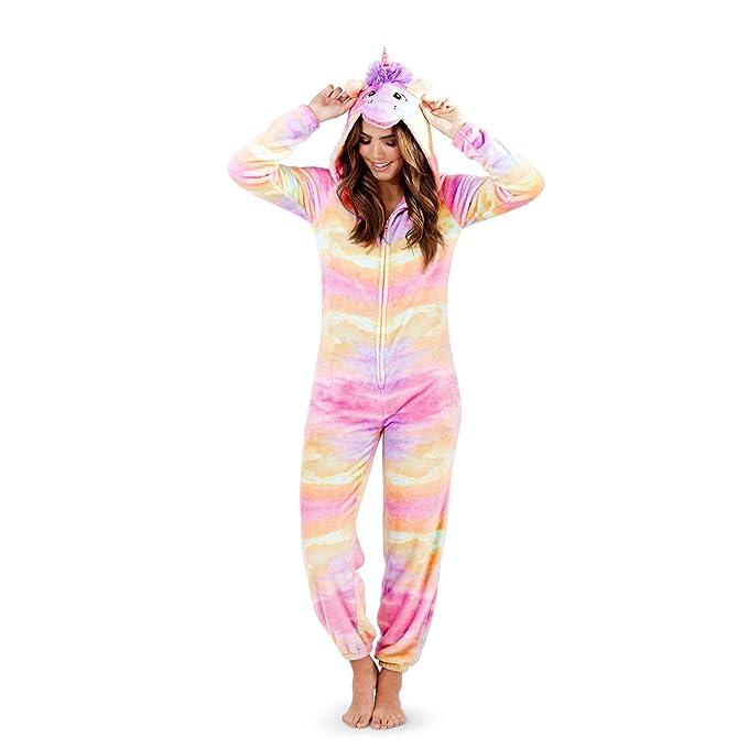 b63884d0975e Ladies Or Girls Just Like Me 3D Cute Rainbow Unicorn Hooded Fleece Bath  Robe Onesie