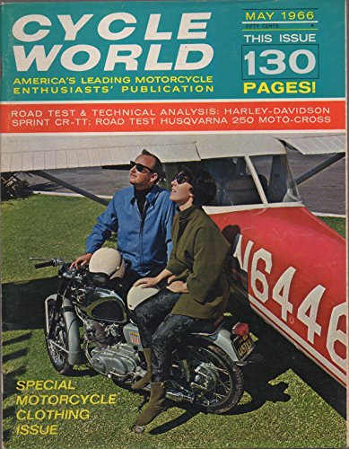 Book cover from Cycle World: Americas Leading Motorcycle Enthusiasts Publication, vol. 5, no. 5 (May 1966): Special Motorcycle Clothing Issue (Road Test & Technical Analysis: Harley-Davidson Sprint CR-TT; etc.)by R. L. Price