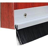 Lvguang Bürstendichtung Tür Streifenbürste Türbürste mit dichten Besatz Türdichtung Aluminium Silber Bürstenlänge: 40mm