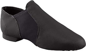 MSMAX Women Lace up Jazz Boots Split Sole Black Dance Sneakers