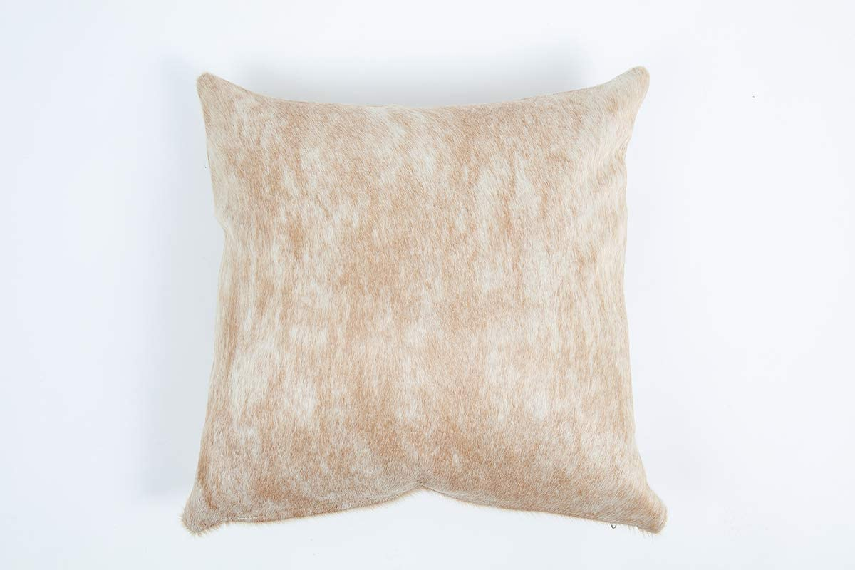16x16 Inches or 20x20 Inches 16x16 Gaucho Cowhides Beige /& White Genuine Cowhide Pillow Cover