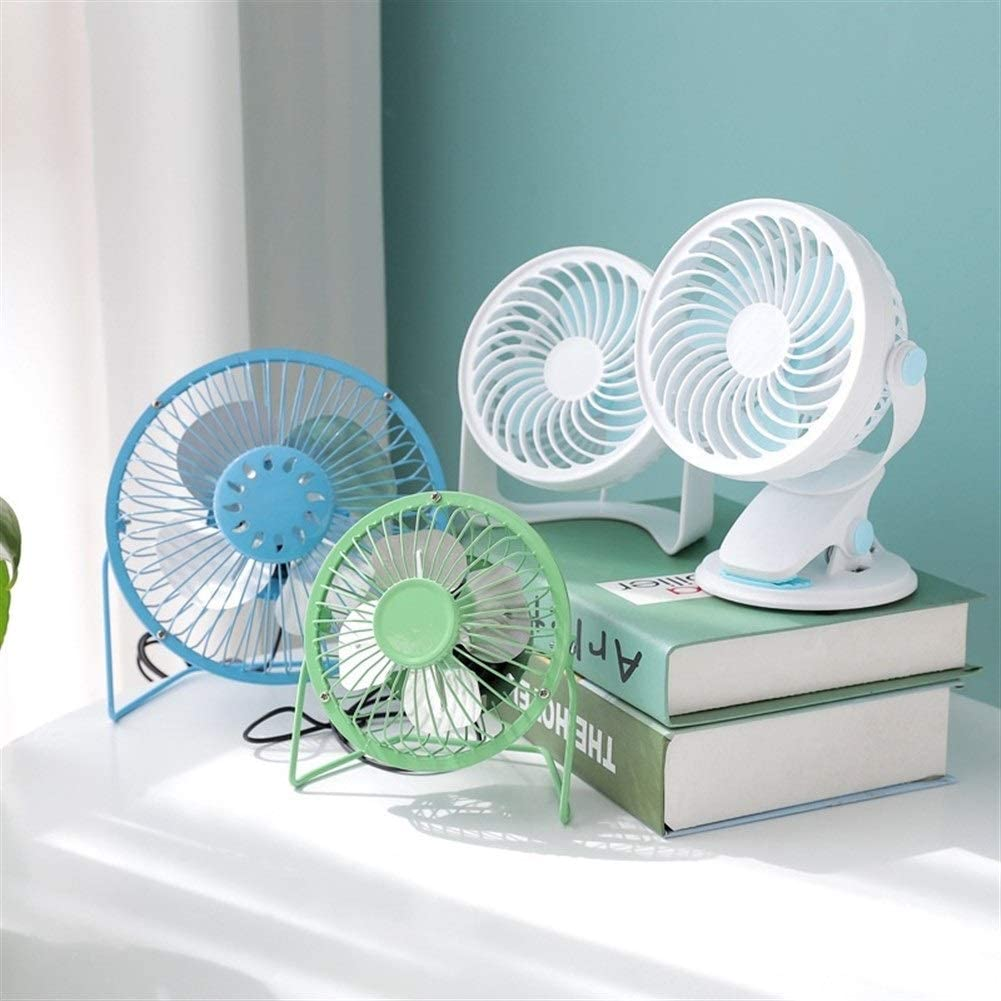Air Cooler Mini Iron Fan USB Charging Lightweight Electric Fan Outdoor Personal Fans Color : 02-4inch