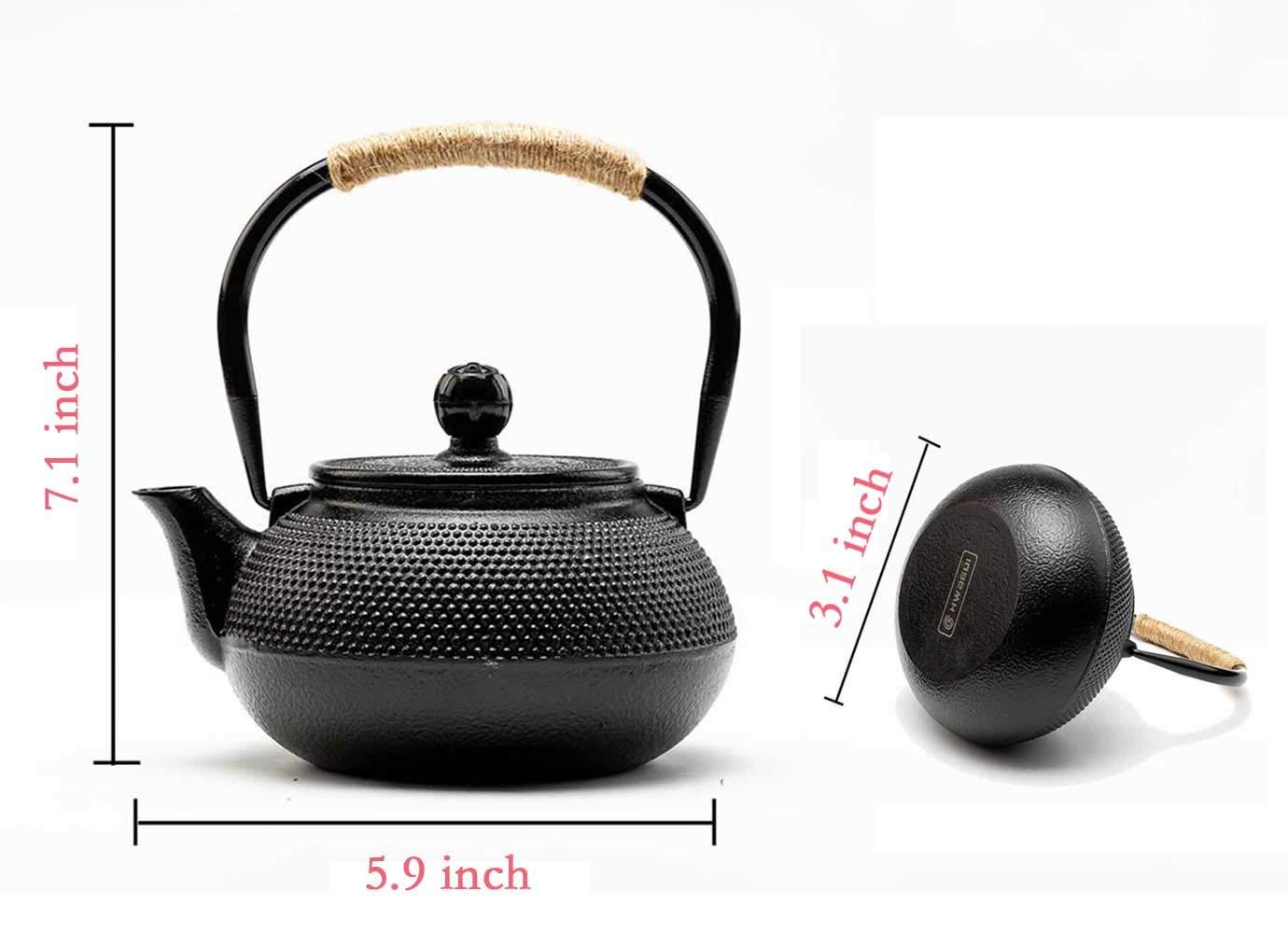 Accesorios para Hervidor de t/é de Kung Fu HwaGui Alfombrilla con Aislamiento de Hierro Fundido Soporte para Tetera Emparejado con Tetera de Hierro