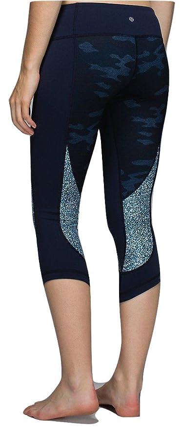 3644f9b204 Amazon.com : Lululemon Wunder Under Crop Yoga Pants Sashiko Camo Inkwell  Blue (4) : Sports & Outdoors