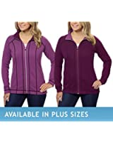 Ladies' Reversible Full Zip Jacket - Purple,XXL
