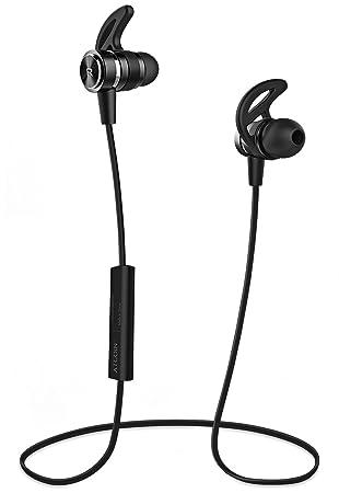 Auriculares Bluetooth ATGOIN Cascos Bluetooth running, Auriculares inalámbricos Bluetooth 4.1 (magnéticos, ajuste firme