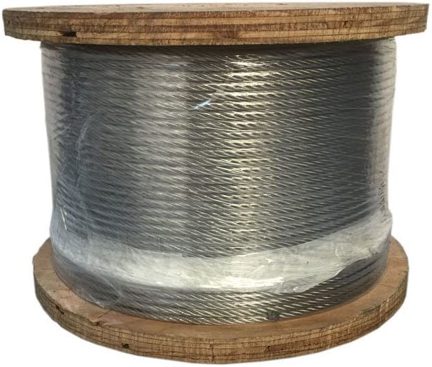 Grade 316 Stainless Steel 1 4 1x19 Cable Rail Railing Wire Rope 500 Ft 316ss Amazon Com
