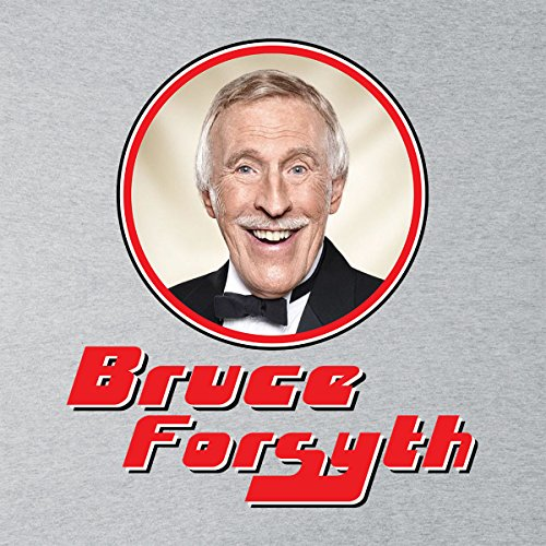 Bruce Forsyth Retro Photo Frame Women's Hooded Sweatshirt Heather Grey