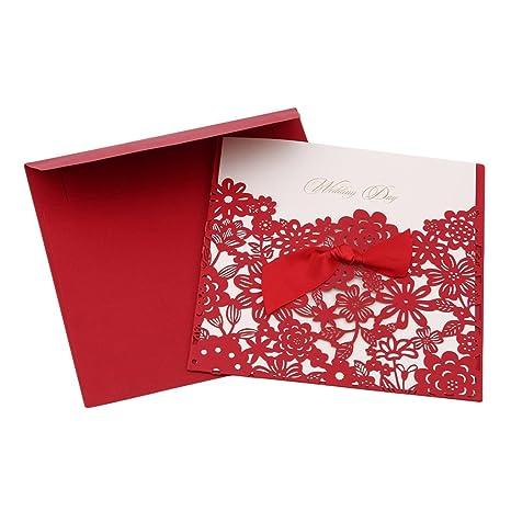Sevenhope 25 Unidades Rojo Boda Invitaciones Cumpleaños