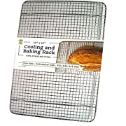 Amazon Lightning Deal 97% claimed: UltraCuisine 100% Stainless Steel Wire Cooling Baking Rack for Oven Use, Heavy Duty Roasting Racks