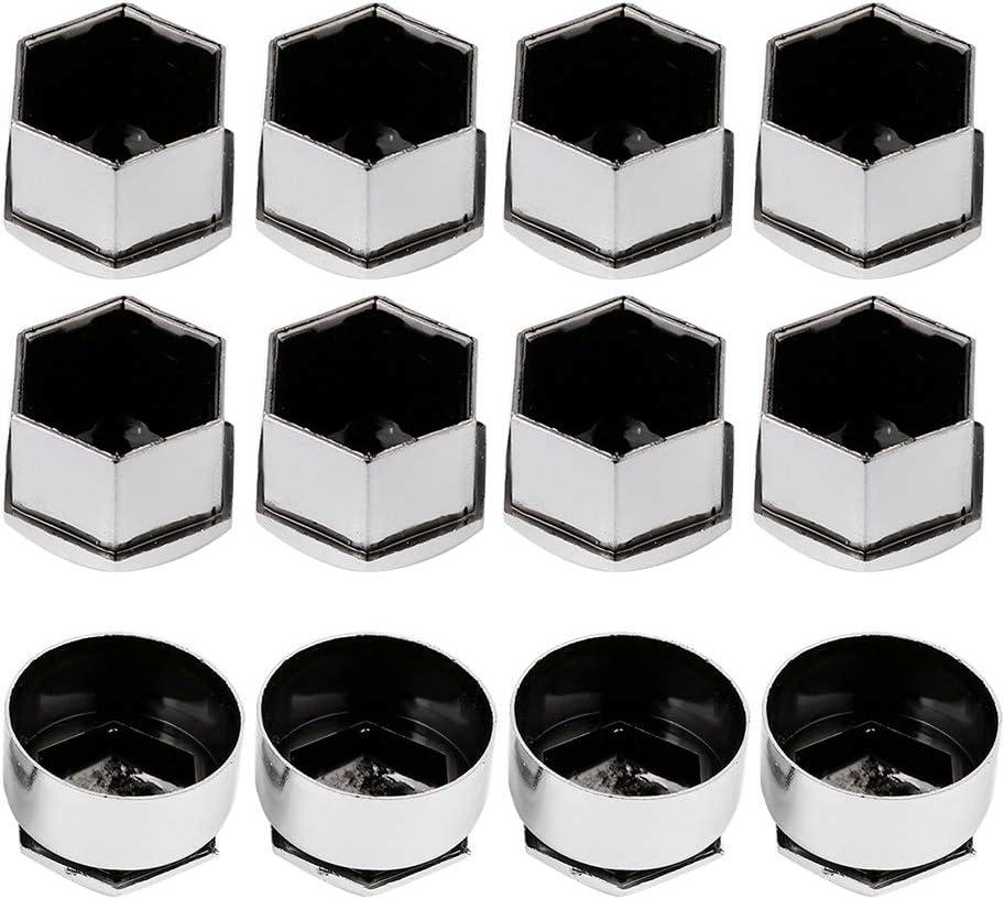 /Écrou de roue couvercle de protection anti-vol 20pcs roue protection de moyeu automatique 17mm Noir /écrou
